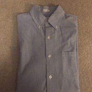 Men's button down shirt (very fine blue pinstripe)